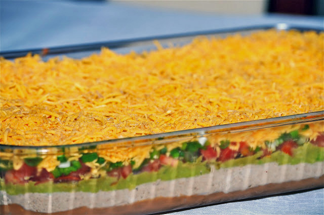 Image of a Mexican 7 layer dip.