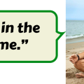 """Image of Tony Robbins meditating with a speech bubble that says """"Get in the game."""""""