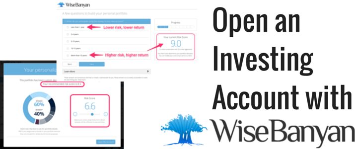 Title image for article that reads 'Open an investing account with WiseBanyan'.