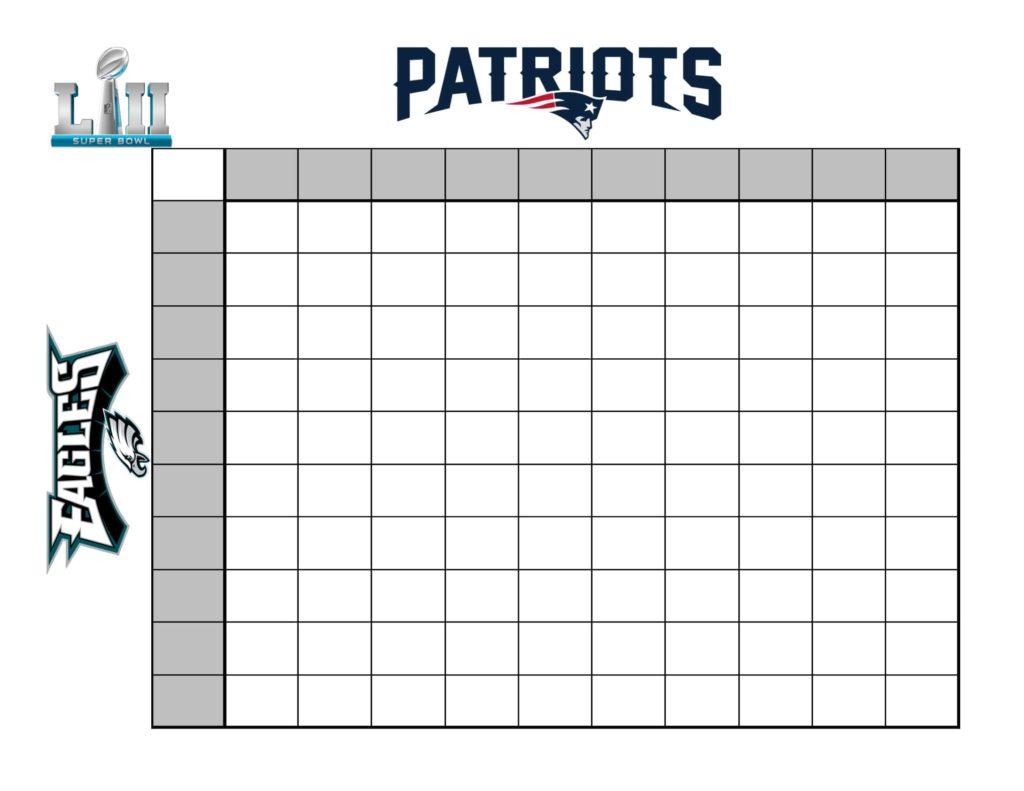 super bowl box template - how to create a fun super bowl betting chart